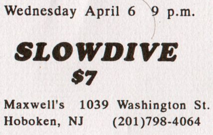 Slowdive Cat S Cradle Presale